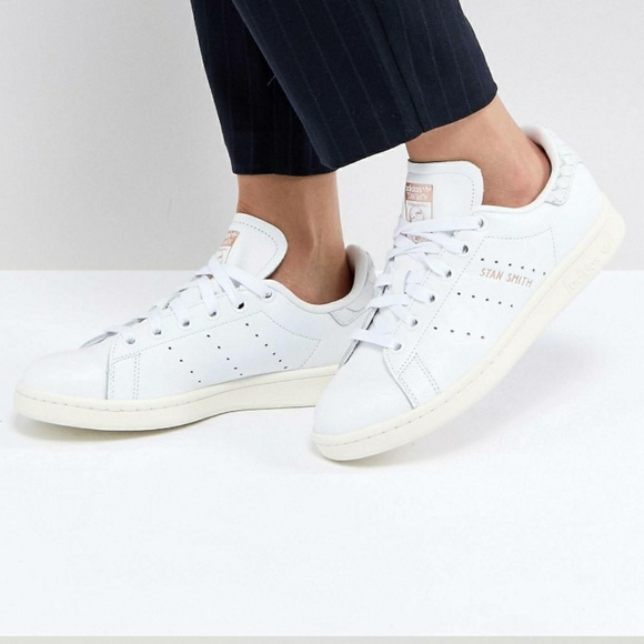 Stan Smith Trainers With Reptile Back Counter - White adidas Originals ITCmvXUr
